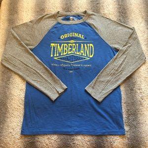 🌳 Timberland Longsleeve Tee Mens Medium Grey Blue